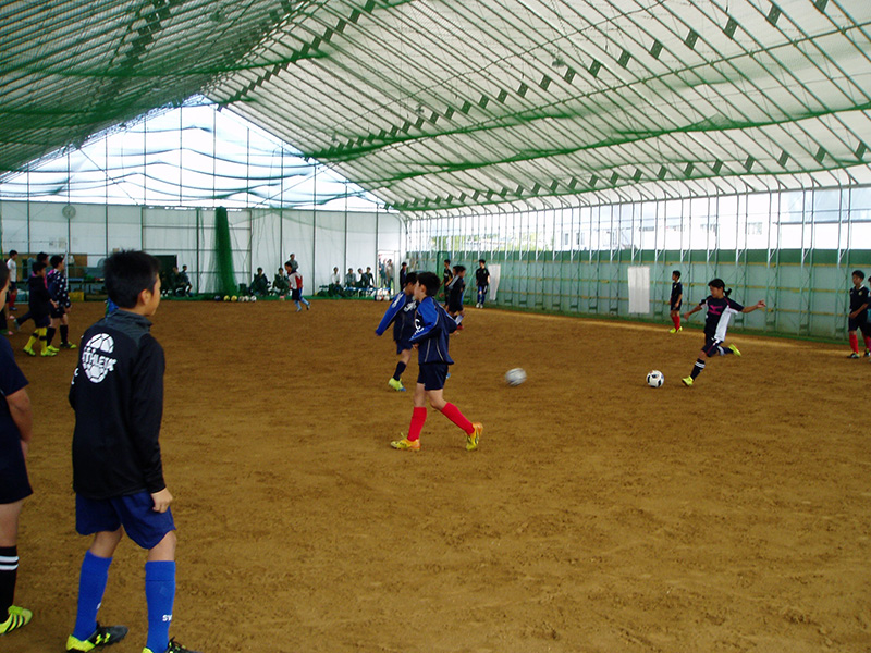 サッカー練習風景